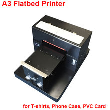A3 Flatbed Printer Commercial Digital Photo Printer for T-shirts, Phone Case, PVC Card Printing Flat bed Inkjet Printer(China)