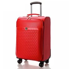 ba5b69046ea1 Women marry spinner leather rolling suitcase fashion travel trolley luggage  bag 16 18 20