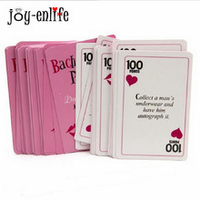 JOY-ENLIFE 1set Bachelorette Party Truth Or Dare Cards Game Activity Card Number Card Hen Night Party Bridal Groom Party Supplie(China)