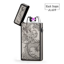 2017 Luxury Electronic  lighter Noble Double Pulsed Arc Lighter USB Rechargeable Flameless Electric Arc Smoking Cigar lighters