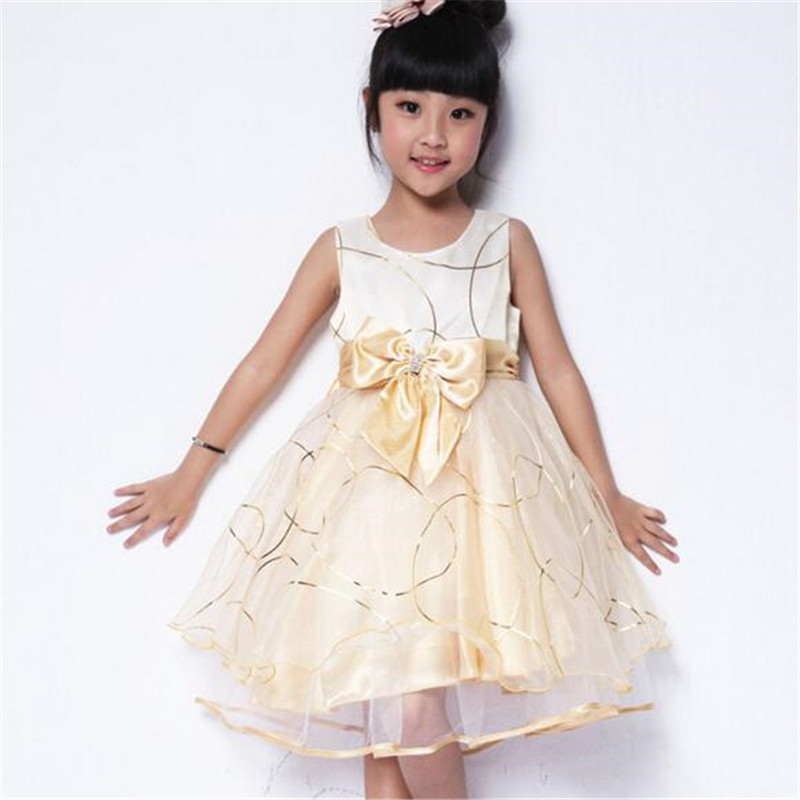 high quality baby girl big bowknot dress fashion sleeveless party dress for summer sweet childrens princess dress<br><br>Aliexpress