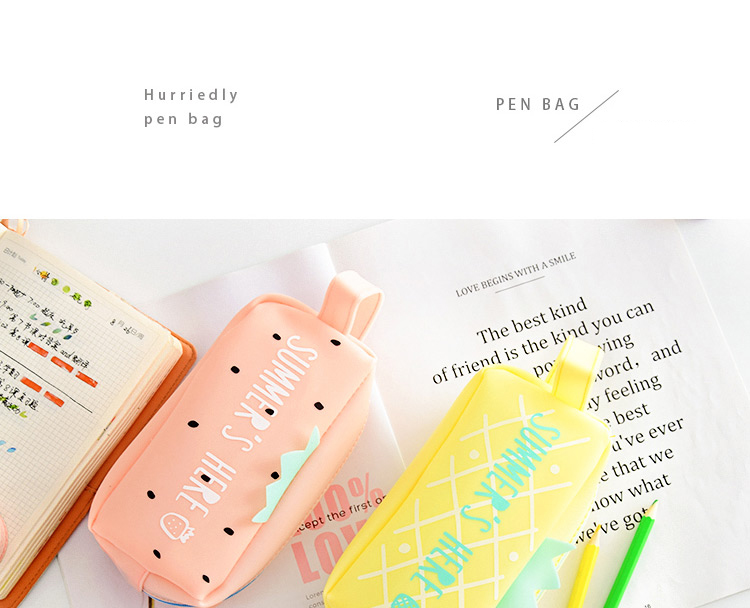 Large Bag Pencil Case For Student Girl  Cute School Stationery Supplies Gift Big Kawaii Silicone Cartoon Fruit Pen Box Zipper 1 (7)1
