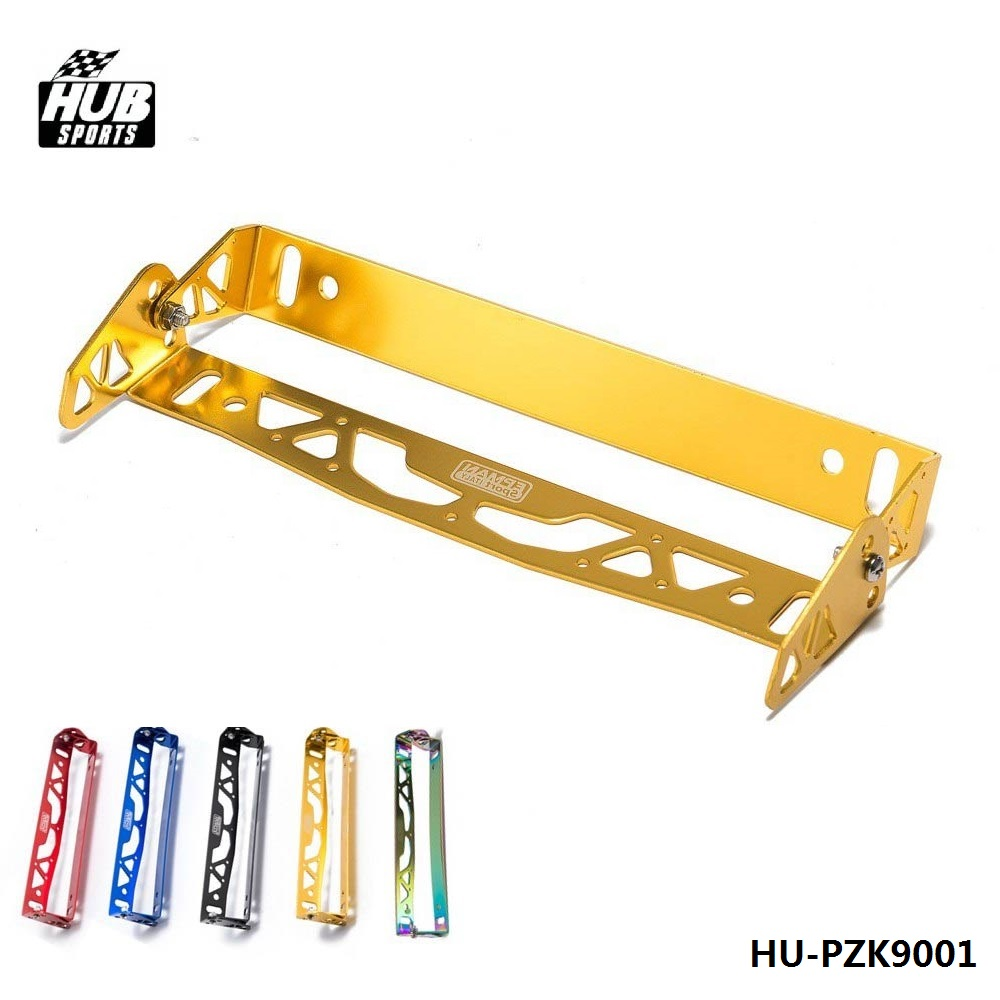 Adjustable License Plate Frame Power Racing Tag Holder For Subaru For Mazda For BMW For VW HU-PZK9001