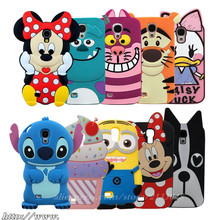 Phone Case for Samsung Galaxy S4 case i9500 3D cartoon Cover Brand New Coque Soft Silicone CASE for galaxy s4 i9505