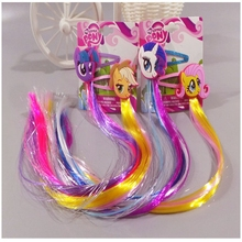 New Design Shiny Rhinestone My Little Pony Hair Clip Girls Hair Accessories Grid Yarn Children Accessories Ribbon Baby Hairpins