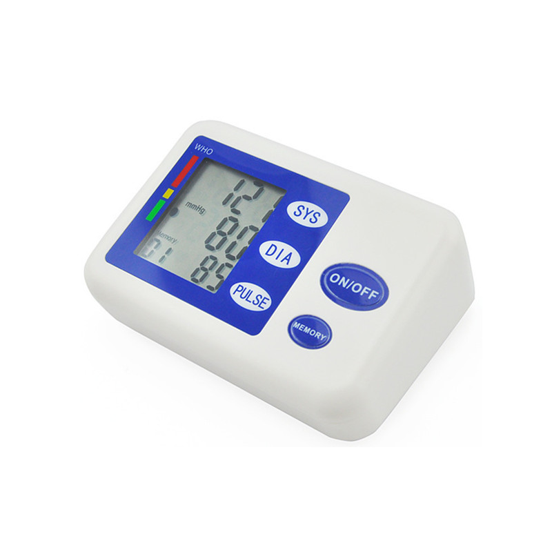 Fully automatic arm style blood pressure monitor Digital LCD large display professional accuracy memory Household Health care 4