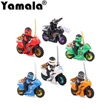 [Yamala] Compatible With legoINGly Ninjagoed Mini Blocks Jay Lloyd Skylor Zane Pythor Chen Building Blocks Toys For Children(China)