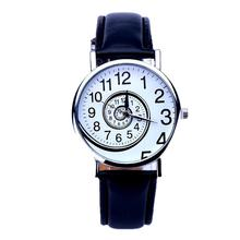 Essential New Hot Sell Wacthes Women Swirl Pattern Leather Analog Quartz WristWatch Bangle Bracelet Relojes  Oct28