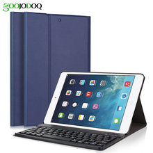 Case For iPad Air 2 / iPad Air / New iPad 2017 9.7 inch Keyboard + PU Leather Smart Cover Detachable Wireless Bluetooth Keyboard