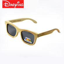 DAOYING 2017 New fashion Products Men Women Glass Bamboo Sunglasses au Retro Vintage Wood Lens Wooden Frame Handmade LUB102(China)