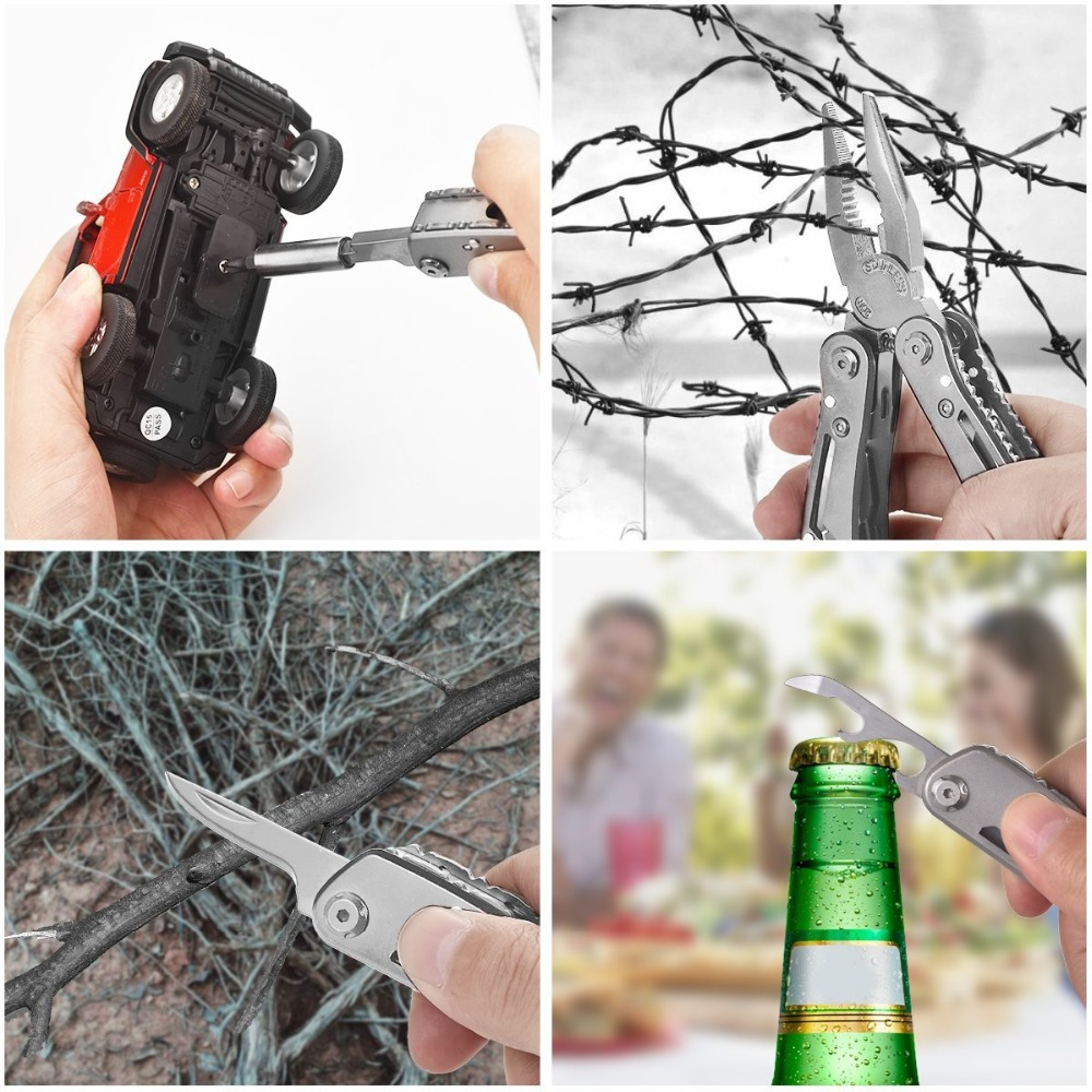 EDC Multitool with Mini Tools Knife Pliers Swiss Army Knife and Multi-tool kit for outdoor camping equipment (7)