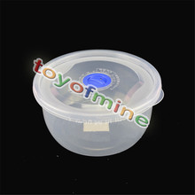 1 Piece Round Microwave Lock Airtight Food Container Set Box Kitchen Storage(China)