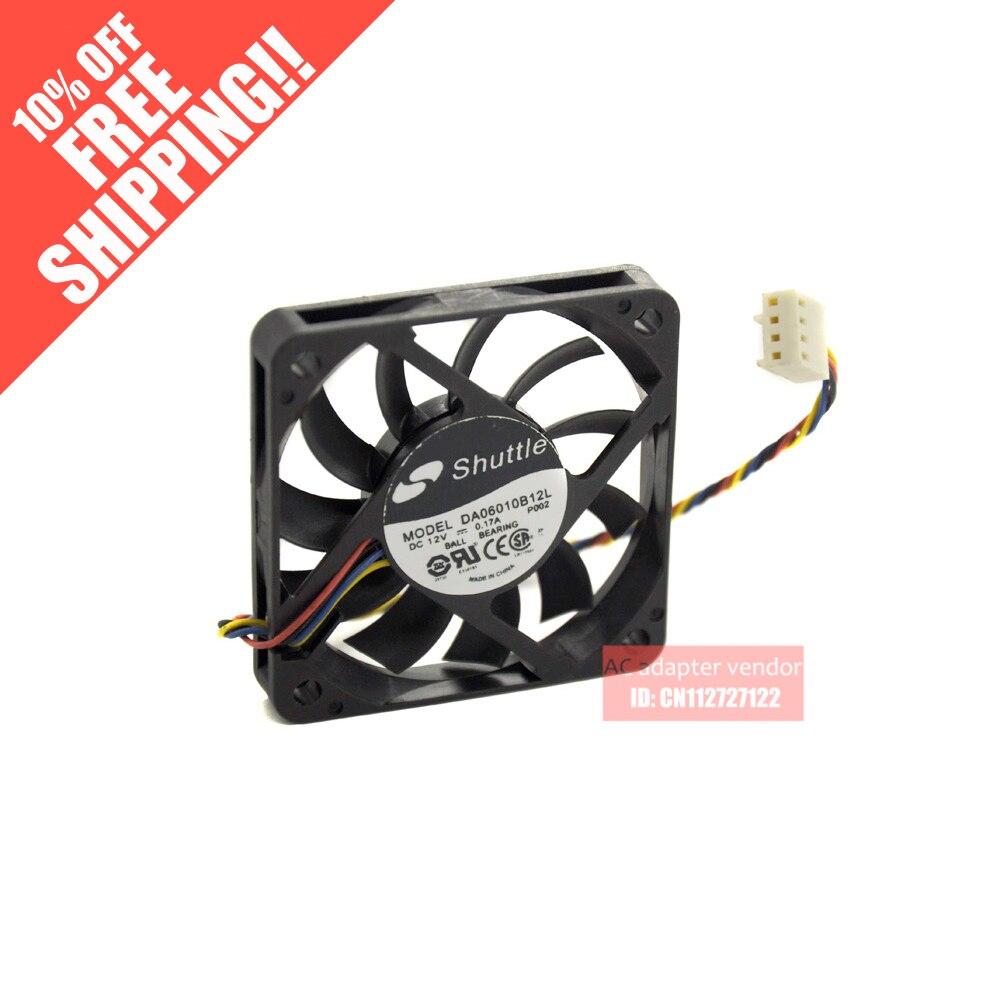 shuttle 6010 6cm DA06010B12L 12v 0.17a 4 wire PWM / Slim / cooling fan<br>