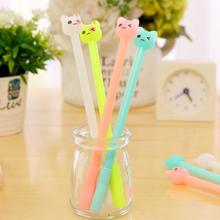 4 Piece Korean Stationery Kawaii Cute Erasable Pen Advertising Creative Bent School Office Gel Pens Christmas gift