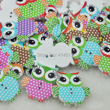 20/50/100PCS Mix Color Baby Owl Birds Button Carton Baby Sewing Craft Lots WB84