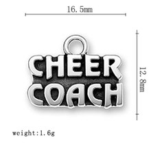 Skyrim Zinc Alloy Letter CHEER COACH DIY Message Charms Fashion Jewelry 20Pcs/Lot