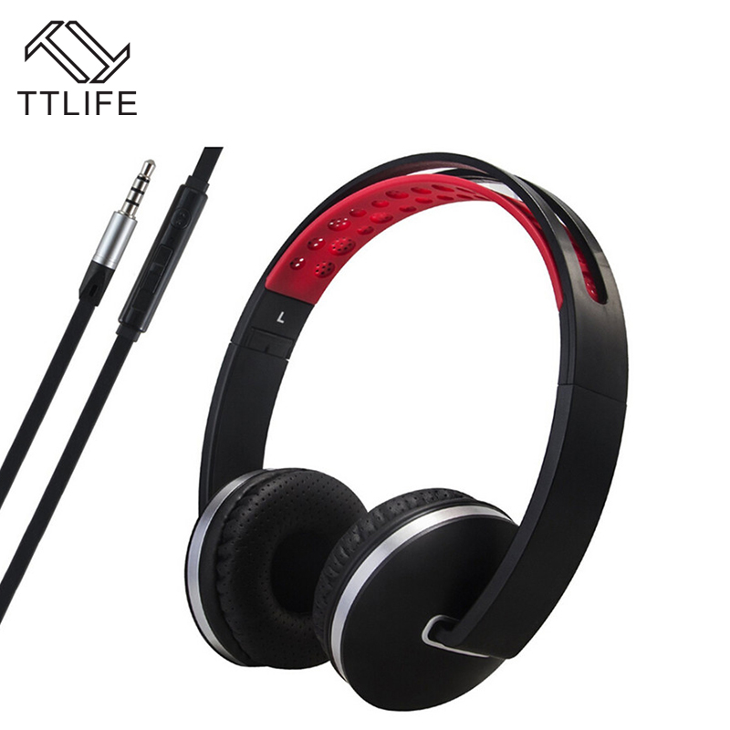 2017 Fashion TTLIFE Brand Foldable Wired Headphones Adjustable Stereo Headband Headsets with Microphone for Smartphones Computer<br><br>Aliexpress