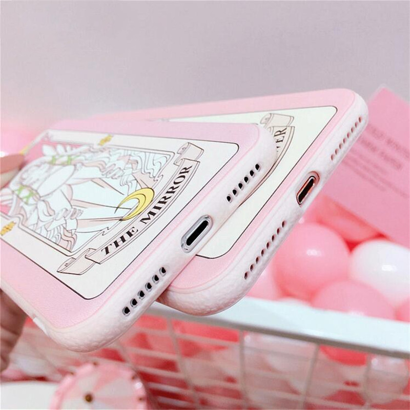 Mouplayca for iPhone 6/6s/7/8 plus phone cases Cute cartoon Card Captor Sakura relief soft TPU back cover cases