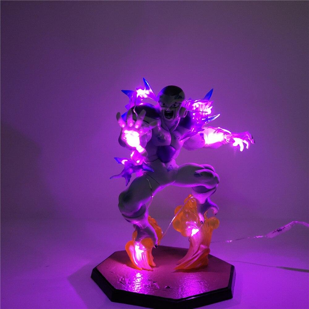 Dragon Ball Z Frieza Model PVC Dragon Ball Figure Freeza DIY LED Light Toys Action Figures  Dragon Ball Super Frieza Collectible