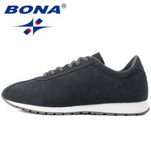 BONA New Typical Style Men Walking Shoes Outdoor Activities Sneakers Comfortable Lace Up Sport Shoes Men Soft Fast Free Shipping(China)