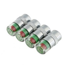 4 Pcs Car Auto Tire Monitor Valve Dust Cap Pressure Indicator Sensor Eye Good Quality High Quality