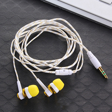 MP3 MP4 Wiring Subwoofer Earbuds Braided Rope Wire Cloth Rope Earplug Noise Isolating Earphone with Microphone for 3.5mm phones