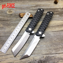 get-FORCE D2 Steel Titanium Ball Bearing Folding Blade Knife,Outdoor Pocket Knives,Hunting Tactical Folding Knife,Camping Knives