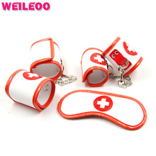 Buy 3 pcs nurse slave bdsm sex toys couples fetish sex toys bdsm bondage restraints sex bondage set erotic toys adult games