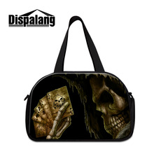 Cool Mens Travel Bags Skull Print Women Waterproof Luggage Travel Duffle Bags Large Gym Fitness Bags Outdoor Bag For Trip
