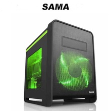 SAMA carbon matx computer case special small plate double layer 340 graphics card 280 water