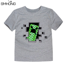 SMHONG T-shirts for boys 2-14 T summer children's T-shirt short sleeved kids T shirts minecraft print t shirts for boys