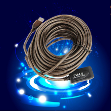 Marsnaska High Speed Active 30Ft 30F USB 2.0 Extension Cable Male To Female With Booster Repeater Extender 10 M 10 Meter(China)