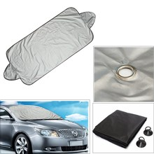Universal 146 x 70cm Car Windscreen Cover Heat Sun Shade Anti Snow Frost Ice Shield Dust Protector For VW /Honda /BMW