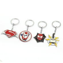 JM Spiderman Superman Thor Iron Man Keychain Superman & Batman Metal Key Chain Rings Holder For Car Game Jewelry Chaveiro