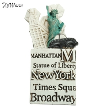 New Tourist Souvenir 3D Resin Fridge Magnet New York The Statue Of Liberty Decorative Mininature Refrigerator Magnetic Sticker