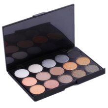 Brand New 15 Color Matte Pigment Glitter Eyeshadow Palette Cosmetic Makeup Set Nude Eye Shadow palettes(China)