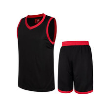 men throwback cheap basketball jersey sleeveless training uniforms quick dry breathable set team outdoor sport wear for teenager