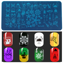 Christmas Nail Art equipment , 2pcs Stainless Steel Image Nail Stamping Plates/ snow festival nail art templates Tools L43(China)