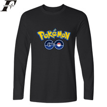 LUCKYFRIDAYF Anime Pokemon Go T-shirts Men Funny T Shirts Brand Cotton with Pokemongo Men TShirt in Pocket Monster Tees and Top(China)