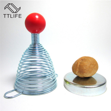 TTLIFE Stainless Steel Open Walnut Artifact Spring Nut Shell Cracker Creative Spring Nut Cracker Kitchen Gadgets Cooking Tools(China)