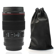 Camera Lens EF 100mm F/2.8 1:1 Stainless Steel Cup Mug with Carrying pouch for Drink Coffee Milk Water Fruit Juice Amazing Gift