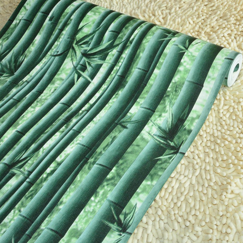 wall paper ,Green bamboo bamboo pattern Bamboo Garden Grill wallpaper fruit snack box Hotel Villa wallpaper,papel de parede,<br><br>Aliexpress
