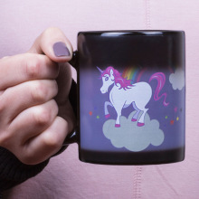 1 Pieces Original Color Changing Temperature Unicorn Ceramic Mug Multi Colour Hot Cup New(China)