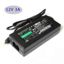 Led switching power supply AC/DC adapter 12V 3A 36W Table type 36W led power adapter