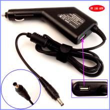 19V 3.16A 60W Laptop Car DC Adapter Charger + USB(5V 2A) for Samsung NP300E5A NP300E5A-A01U NP300V5A NP350U2B RF710