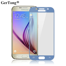 2.5D 9H Blue Color Full Cover Screen Protector For Samsung Galaxy J7 A5 2017 A3 A7 J3 J5 EU Front Tempered Glass Protective Film(China)