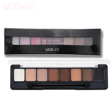 WODWOD Eyes Makeup Professional Eyes Makeup Glamorous Smokey 8 Colors Eye Shadow Palette Daily Make Up Kit Brand
