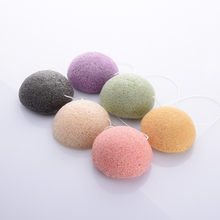 Flutter wash natural active plant konjac Cleansing cotton bamboo charcoal cleansing flapping Amorphophallus konjac wet sponge