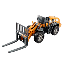 Mixer truck & An excavator & Excavating machinery & Simulated forklift truck model car for children Jsuny Engineering vehicle(China)