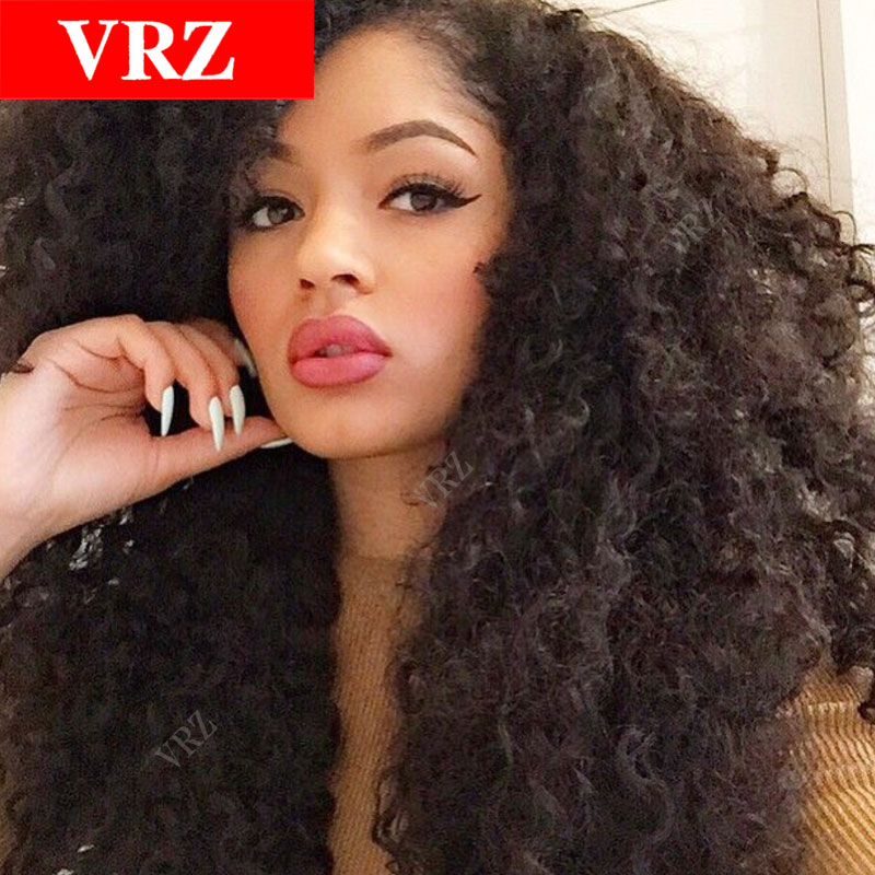 Peruvian Virgin Hair Full Lace Wigs Kinky Curly Hair Glueless Lace Front Human Hair Wig For Black Women 100% Unprocessed<br><br>Aliexpress
